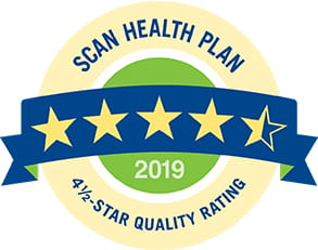 SCAN Health Plan 2017 Four and a Half Star Quality Rating